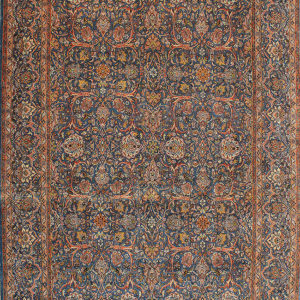 blue traditional area rug