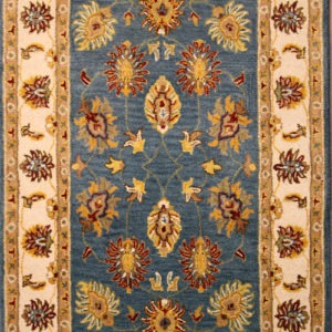 sea blue traditional area rug