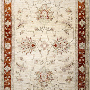 Beige traditional ziegler rug