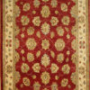 Red traditional area rug
