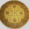 Round traditional oriental rug