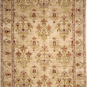 Traditional area rug beige